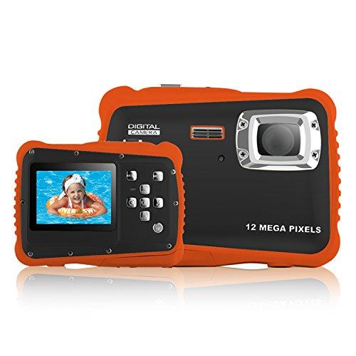 Yocktec Action Camera Subacquea -Fotocamera Digitale ad Alta Definizione Impermeabile 3M per Bambini (Arancio)