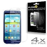 Pure² Protection Bildschirmschutzfolie (4-er Pack) für Samsung I9300 Galaxy S3 klar