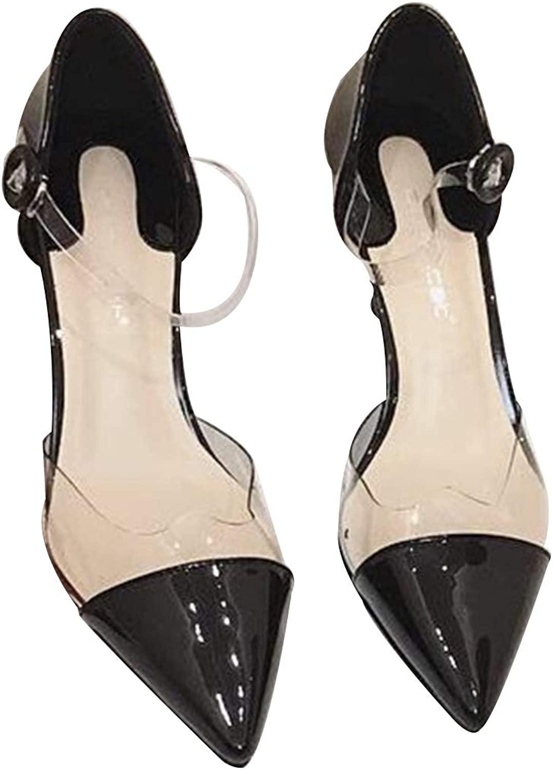 ZLL8 Women's Patent Leather Sexy Pointed Shallow Mouth high Heels