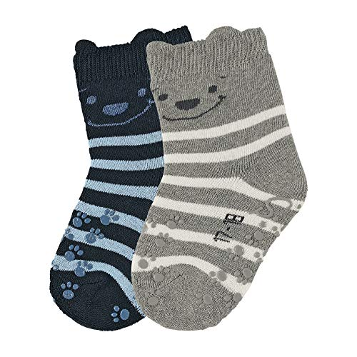 Sterntaler Baby-Jungen ABS-Krabbelsöckchen DP Bär Socken, Marine, 20