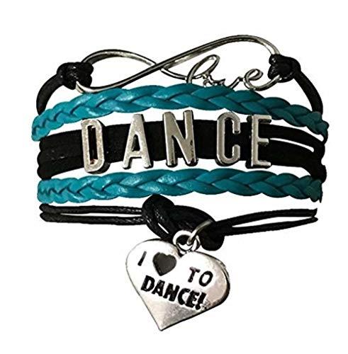Infinity Collection Dance Bracelet- Dance Jewelry - Blue Love Dance Charm Bracelet- Gift for Dance Recitals & Dancers