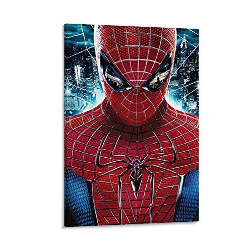 Ghychk Póster decorativo de Spider-Man Superhéroe, impresión sobre lienzo, moderno para decoración del hogar y la oficina, listo para colgar, 40 x 60 cm