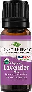 Plant Therapy Lavender Fine Organic 10 mL (1/3 oz) 100% Pure,Undiluted, Therapeutic Grade