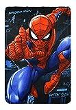 yuhu Spider-Man Polar Fleece Kuscheldecke Tagesdecke 100 x 150 cm blau