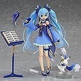 SDFDSSR Las estatuillas de Hatsune Miku Pueden Cambiar de Postura, esculturas de Personajes cómicos, Accesorios múltiples, Modelos de Personajes de Anime, Disfraces Azules, Faldas, Adornos animación