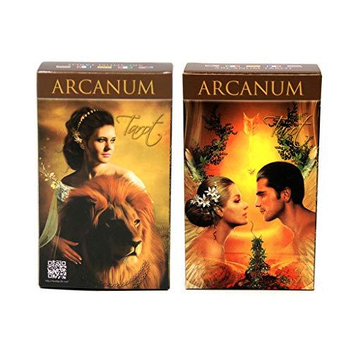 Full English Arcanum Tarot 78 Karten Deck, Mysterious Divination Oracle Spielkarte Family Party Brettspiel