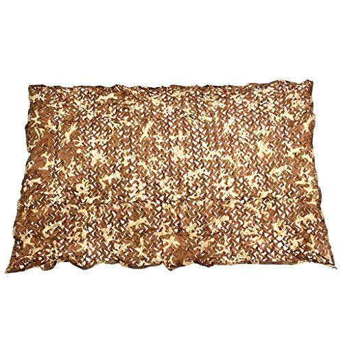 FKDENET Tarnnetz 150D Oxford Tuch, Wüste Militär Verstecken Mesh-Shade Net for Garten Pergola Shading Dekoration Aussen Markise-Brown (Size : 5x5m16.4ftx16.4ft)