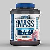 Applied Nutrition Critical Mass - Bebida Proteica Carbohidratos Aumento de Peso - 2400 g (Strawberry-Fresa)