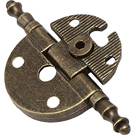 WOLFPACK LINEA PROFESIONAL 3046010 Bisagra Desmontable con Pasador y Remate Oro Viejo 74 mm