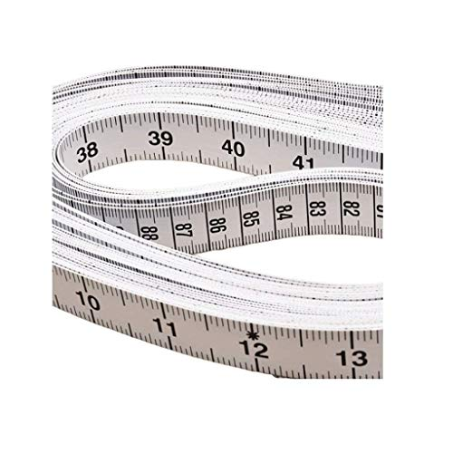 PLEASUR Cinta métrica Blanca Pulgada métrica Regla de Ropa Cinta métrica de confección 1,5 m (Color: métrico)