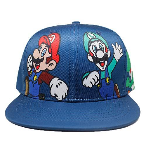 ASLNSONG Super Mario Baseball Cap Canvas Adjustable Hip-hop Cap Hat