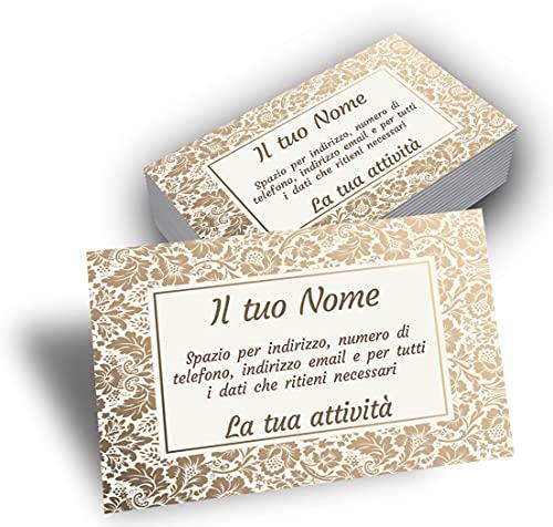 Biglietti da visita personalizzati tascabili - Cartoncino plastificato con stampa fronte e retro -...