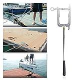 N|A Gancho multifuncional para barco, en forma de U, mástil telescópico de metal con gancho para...