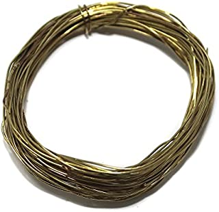 Beadsnfashion Golden Plated Making Brass Craft Wire for Jewellery Making, Beading Wire, Craft Work, Flower Making, Hobby C...