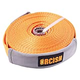 ORCISH 66ft X 2In Tree Saver Recovery Tow Strap Winch Strap17600lb Capacity