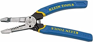 Klein Tools K12055 Wire Cutter and Wire Stripper, Cuts Solid Wire and Stranded Wire, with..
