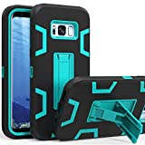 LUCKYCAT Galaxy S8 Case, S8 Phone Case, Kickstand Case for Galaxy S8, Anti-Scratch Anti-Fingerprint Heavy Duty Protection Shockproof Rugged Cover for Samsung Galaxy S8, Blue