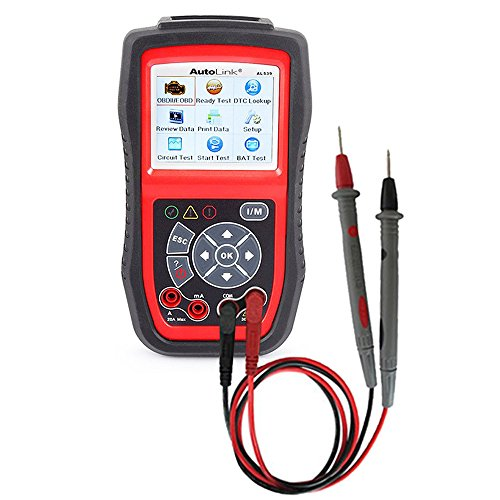 Autel AutoLink AL539 OBD2 Scanner car Diagnostic Tool with Automotive Multimeter & Turns Off Engine Light (MIL)