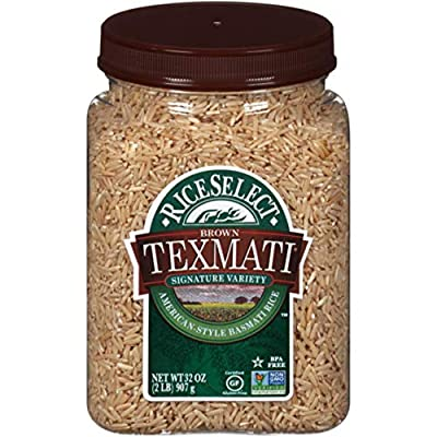 RiceSelect Texmati Brown Rice, 32-Ounce Jars