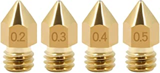 1,75 mm // 0,1 mm + 0,2 mm + 0,3 mm + 0,4 mm + 0,5 mm + 0,6 mm + 0,8 mm + 1,0 mm 8 pz ULTECHNOVO Ugello in Ottone per Stampante 3D per ugello di estrusione per Stampante MK8 Makerbot 3D