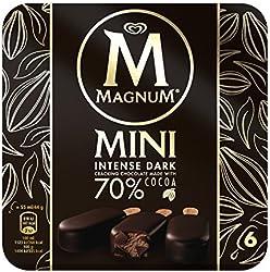 Magnum Mini Intense Dark Multipack Ice Cream, 55ml (Pack of 6) - Frozen