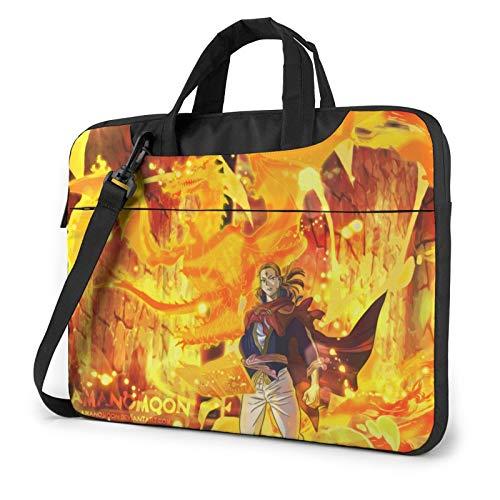 15.6 Inch Laptop Sleeve Bag, Black Clover Tablet Briefcase Ultra Portable Protective Shoulder Shockproof Laptop Sleeve Case Bag Cover MacBook Air