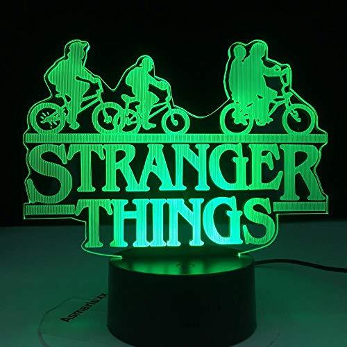Luz nocturna 3D de la serie de televisión americana de la serie de televisión de 7 colores con sensor táctil que cambia de color, ideal como regalo de cumpleaños para niños