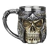 ハロウィンクリスマス誕生日のためにカップを飲むノベルティ装飾スカルマグカップジョッキステンレス鋼のゴシックコーヒーティー(スカルマグ-B) (Color : Skull Mug-B)