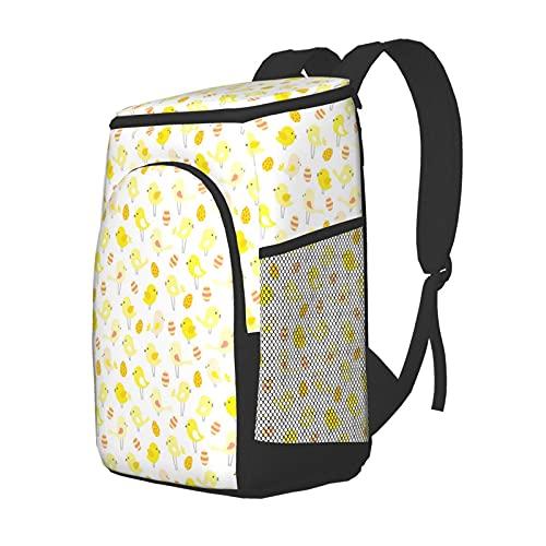 Funny Club Mochila de almuerzo, mochila de picnic aislada, bolsa térmica para pájaros y huevos, mochila ligera impermeable para camping, pesca