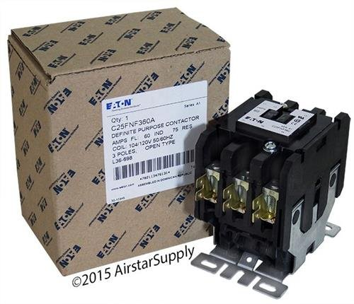 Contactor, 60 A, Panel, 230 V, 3PST, 3 Pole, 20 hp