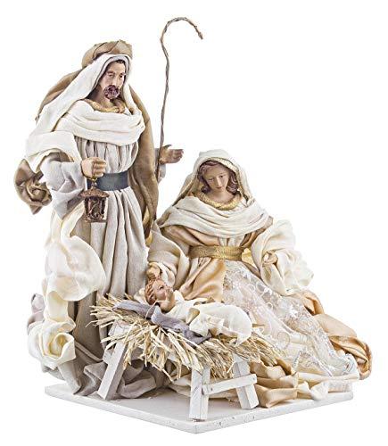 BIZZOTTO Statuine per Presepe di Natale Natività Diletta, Set 3 Personaggi 40 cm