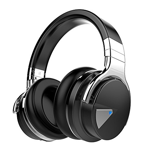 COWIN E7 Active Noise Cancelling Bluetooth Auriculares Over Ear Wireless Headphones con micrófono, de 30 horas de tiempo de Juego, Color negro