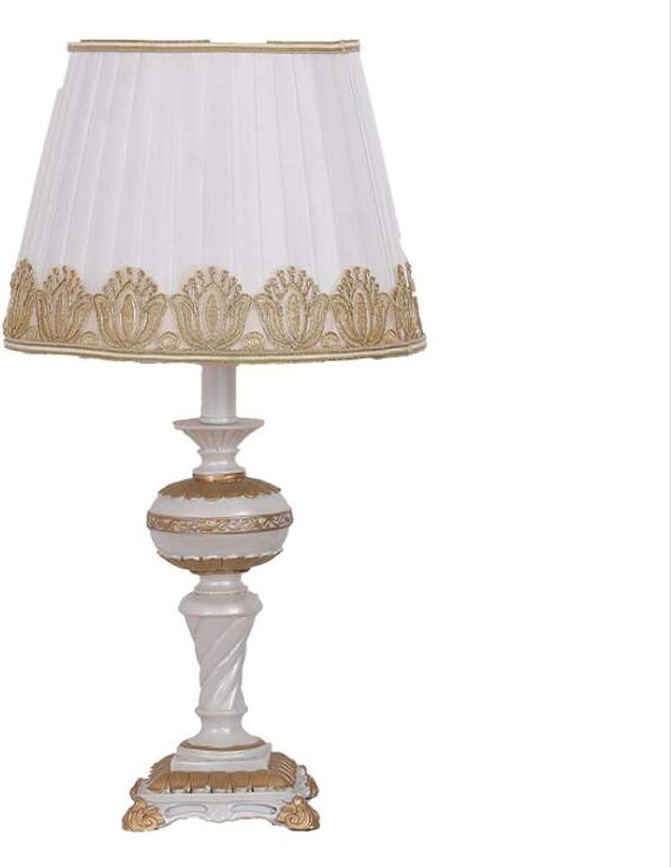 Tischlampen, hohle Tischlampe, Hauserlebnis - Europische Retro Tischlampe Schlafzimmer Nachttischlampe Harz Schreibtischlampe Wohnzimmer E27 Beleuchtung Antike Dekoration