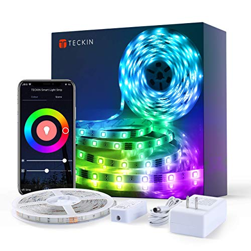 5M Striscia Led Alexa Intelligente Wifi, Striscia di Luci Led 5050 rgb Compatibile con Alexa Echo e Google Home, Led Strip Light con Telecomando Decorazione