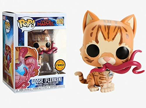 Funko Pop! Marvel: Captain Marvel - Goose (Flerken) Closed Mouth Chase Limited Edition