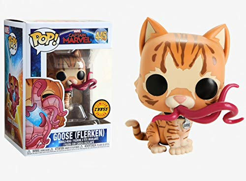 Funko Pop! Marvel: Captain Marvel - Goose (Flerken) Closed Mouth Chase Limited Edition