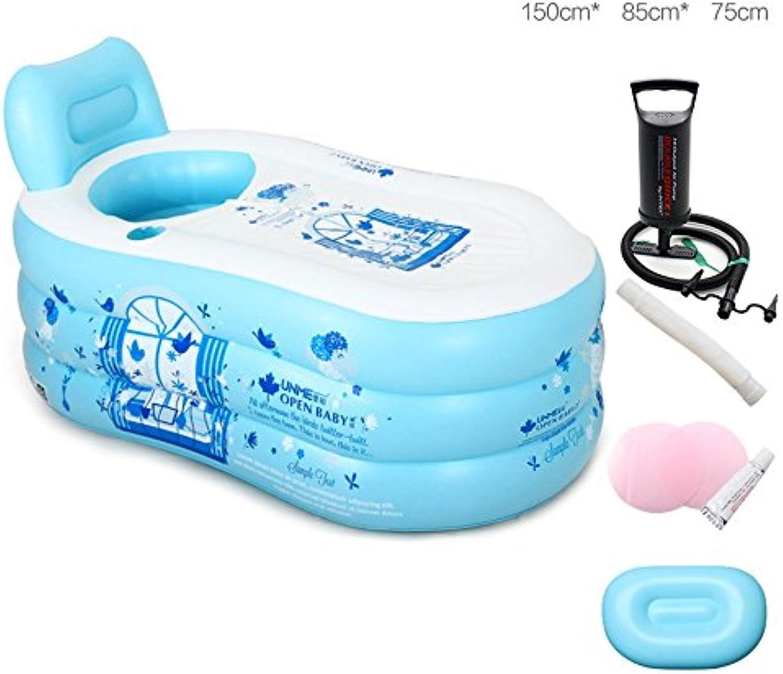 FLYSXP Einfaches aufblasbares Badewannen-Erwachsenbad-Ausgangsbadezimmer-Badefass Aufblasbare Badewanne (gre   Large Manually)