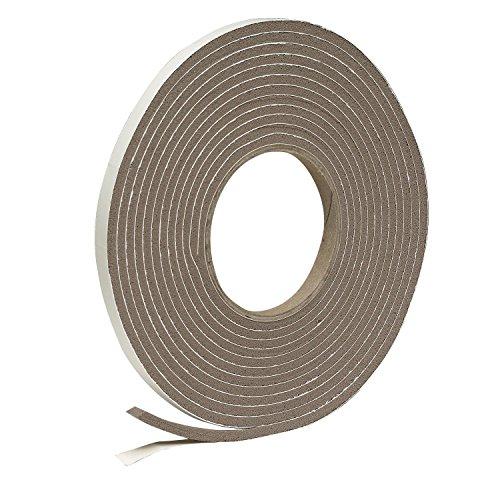Frost King Vinyl-Schaumstoff-Klebeband, geschlossenzellig, moderate Kompression 9,5 mm breit, 4,8 mm tief, 5,2 m lang, braun Browns' Browns