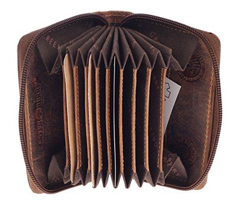 Greenburry Vintage Kreditkartenetui RFID Leder 7,5 cm