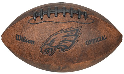 NFL Philadelphia Eagles Vintage Throwback Football, 9-Inches