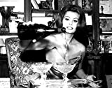 Celebrity Photos Sophia Loren Pouring Champagne Photo Print