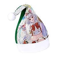 圣诞 (91) サンタ帽子 可愛い スパンコール サンタハット サンタ コスプレ ファッション サンタクロース帽子 小物 仮装 クリスマス 男女兼用 One size