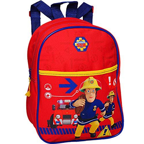 alles-meine.de GmbH Kinder Rucksack - Feuerwehr & Feuerwehrmann Sam - beschichtet & wasserfest - Kinderrucksack / klein - Kind - Jungen - Tasche - z.B. für Kindergarten / Vorschu..
