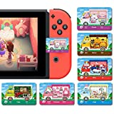 6 Pcs ACNH NFC Game Cards Tags for Animal RVVillager Furniture New Horizons, Compatible with Switch/Lite/Wii U/New 3DS