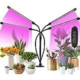 Colmanda Lámpara de Plantas, 80 LED Lámpara de Plantas 40W Lámpara de Crecimiento con Temporizador Automático, 4 Cabezales Lluminación Planta LED Lampara de Cultivo Grow para Cultivo de Plantas (A)