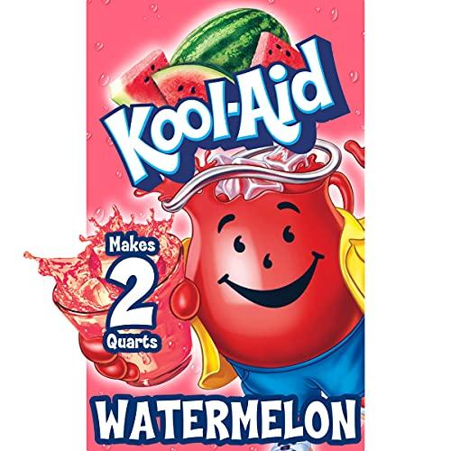 Kool-Aid Unsweetened Watermelon Powdered Drink Mix, Caffeine Free, 0.15 oz Packet