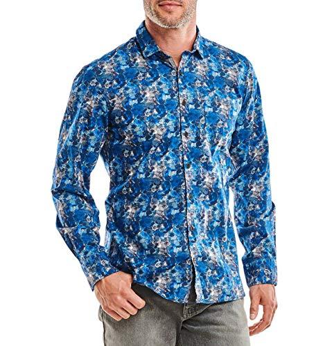 engbers Herren Hemd Langarm Slim fit, 25839, Blau in Größe L