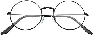 SIPU Classic Round Metal Clear Lens Glasses Frame Women Men Eyeglasses
