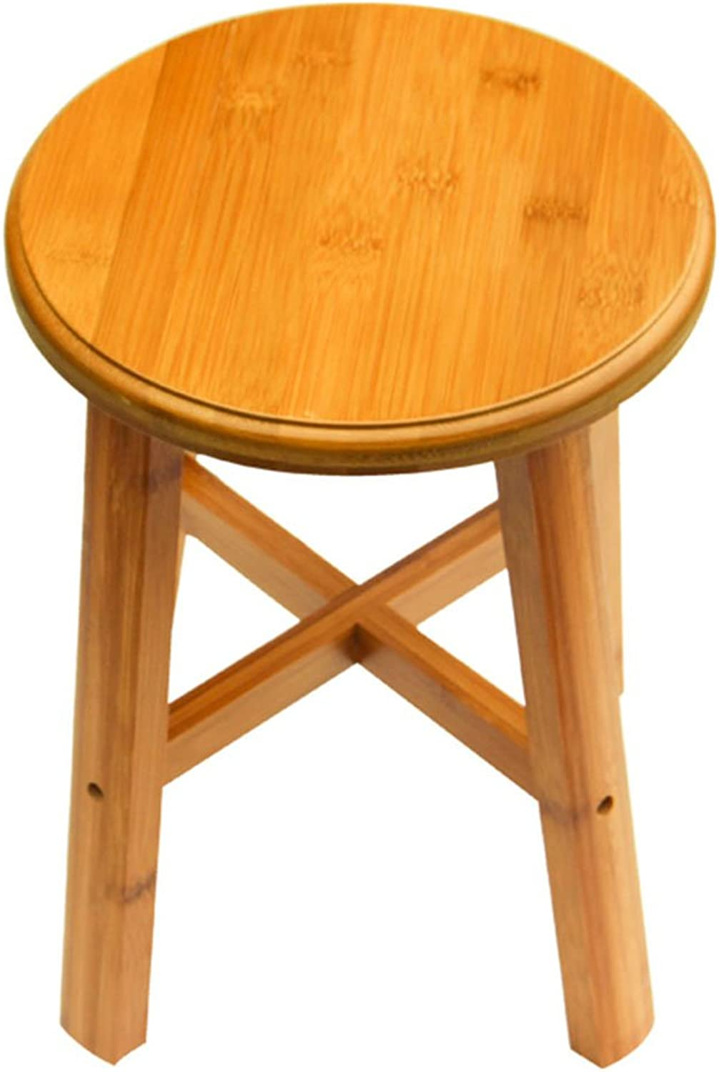 QIDI Stool Solid Wood Indoor Foyer Household Three Styles (color   Style 2)