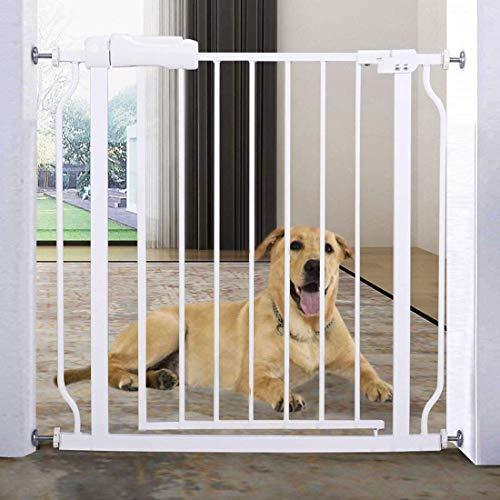 Türschutzgitter für Kinder, für Hunde und Katzen, Befestigung ohne Bohren, Treppen,zum Klemmen (76 * 71CM+12CM)